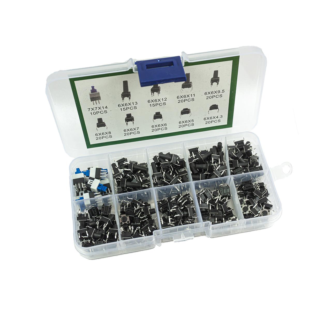 180 tlg. Tactile Taster Set - 180 Stück - 10 Ausführungen