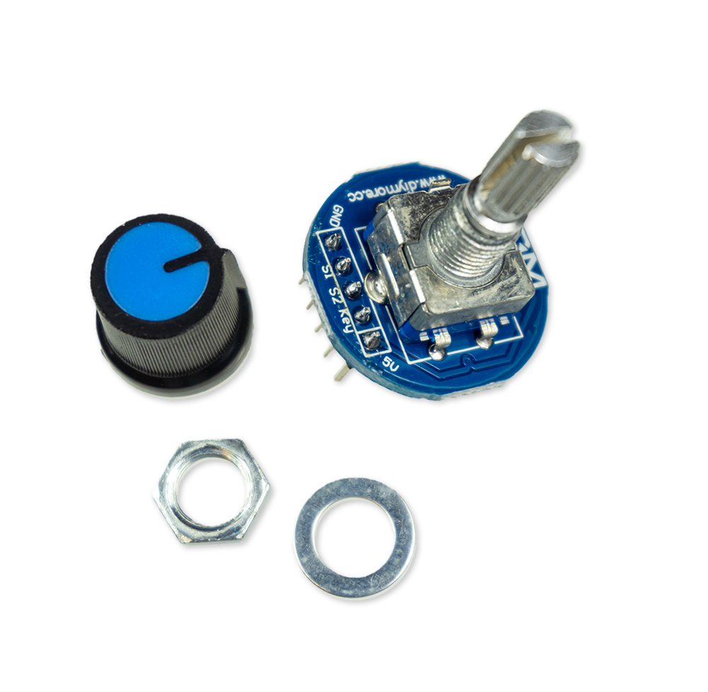 Rotary Encoder Modul mit Tastfunktion - 5V Sensor inkl. Abdeckkappe - Arduino ESP8266 Raspberry Pi