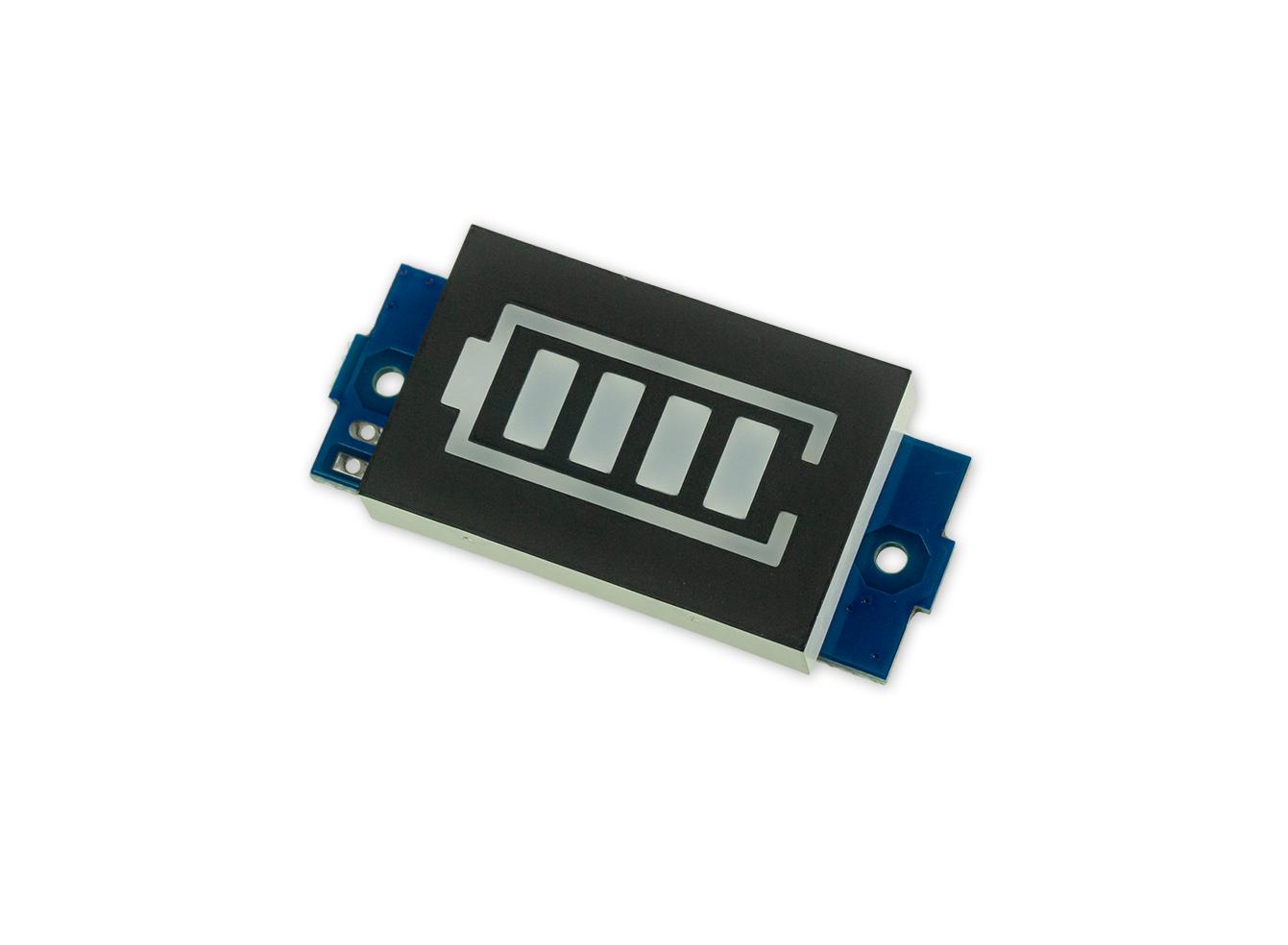 12V Batterie-Ladeanzeige mit Display - Grün leuchtend
