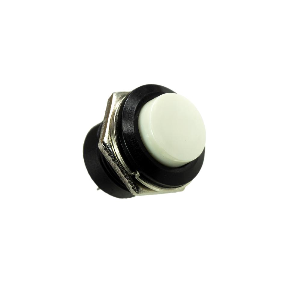 Taster - NO - 250V 3A 16mm - Weiß